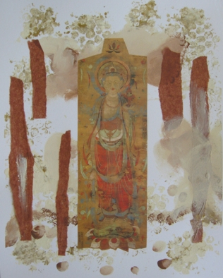Quan Yin collage by Kartika