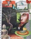 Kartika's art journal page