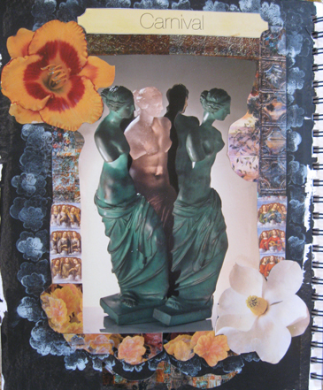 Women Frozen in Time and Place - Art Journal Page