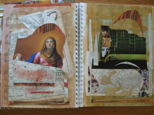 Altered book Madona